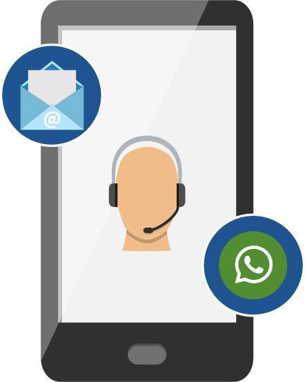 [Atendimento de todos os setores via WhatsApp, e-mail e celular corporativo.]